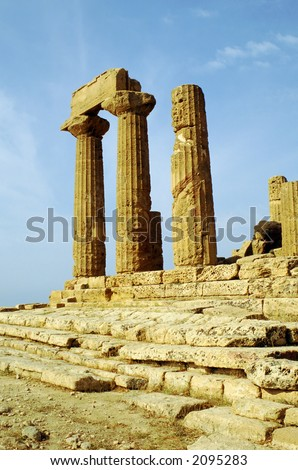 Temple of Heracles, Agrigento Italy, monumental temples valley
