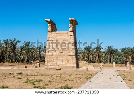 Temple of Hibis, the largest and most well preserved temple in the Kharga Oasis, Egypt