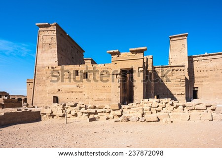 Temple of Isis from Philae (Agilkia Island in Lake Nasser), UNESCO Nubia Campaign project