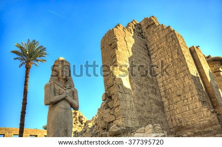 Temple of Karnac - Thebes Egypt - stock photo
