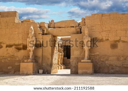Temple of Karnak in Egypt africa, Monument - stock photo