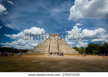 Temple of Kukulkan, Chichen Itza - stock photo