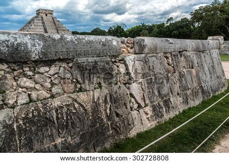 Temple of Kukulkan (El Castillo), pyramid in Chichen Itza archaeological site, Yucatan peninsula, Mexico. - stock photo