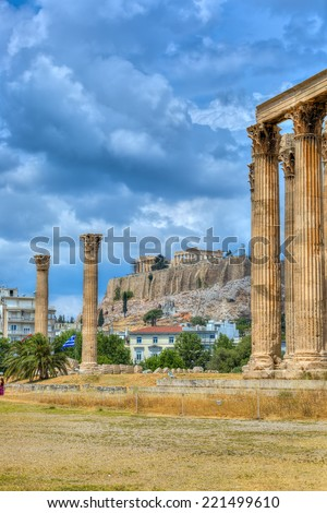 Temple of Olympian Zeus,Athens,Greece  - stock photo