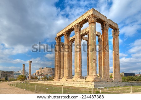 Temple of Olympian Zeus,Athens, Greece  - stock photo