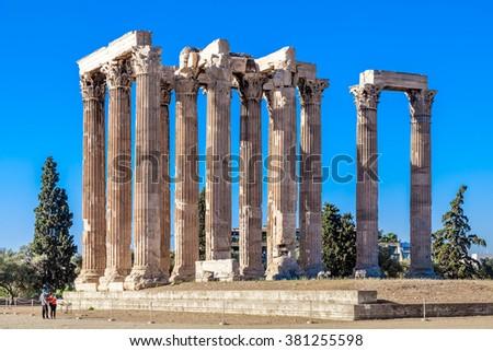 Temple of Olympian Zeus, Athens, Greece - stock photo