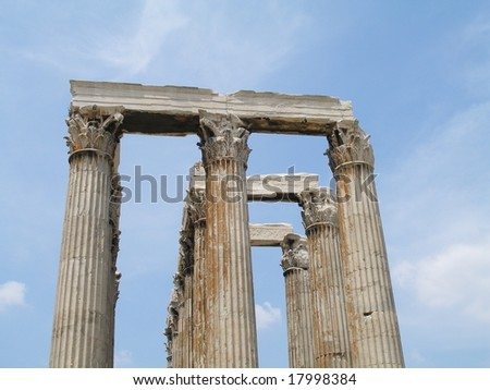 temple of olympian zeus,  in athens, greece