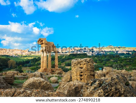 Temple of Sicily. - stock photo