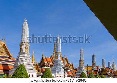 Temple of the beautiful art of the city of Bangkok. Thailand - stock photo
