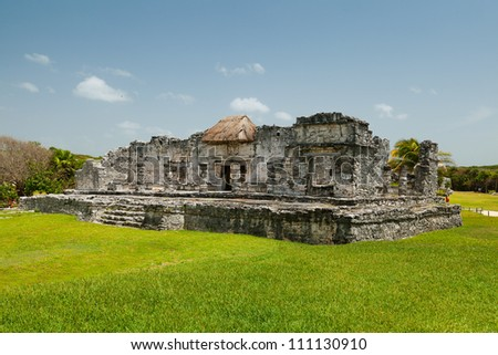 Temple of the Descending God, Tulum Mayan Ruins, Mexico