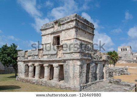 Temple of the Frescos in Tulum, Mexico