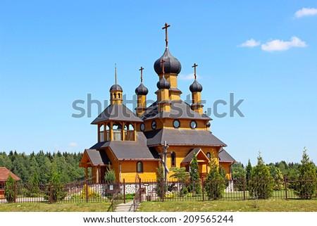 Temple of the Holy Prophet John the Baptist in Dudutki  in Belarus - stock photo