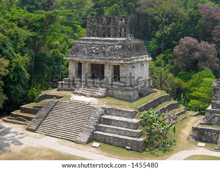 Temple of the sun, Palenque archaeological site, Mexico