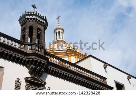 Temple Our ??Lady of Mercy, Guadalajara (Mexico) - stock photo