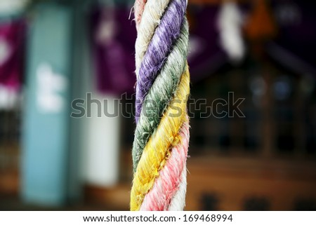 temple rope - stock photo