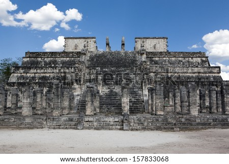 Temple ruins in Chichen Itza. Mexico.
