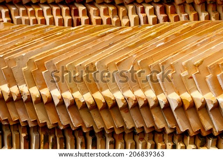 Temple tile roof