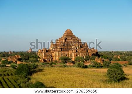 temples in Bagan, Myanmar - stock photo