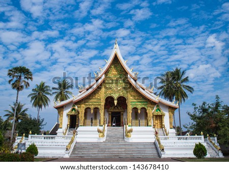 Temples of Luang prabang is favorite from to traveler around the world - stock photo