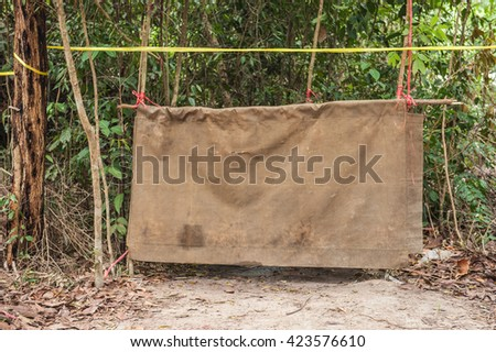 Temporary toilets in the camp in the jungle.  - stock photo