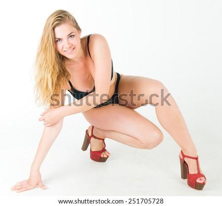Tempting Lady Elegance  - stock photo