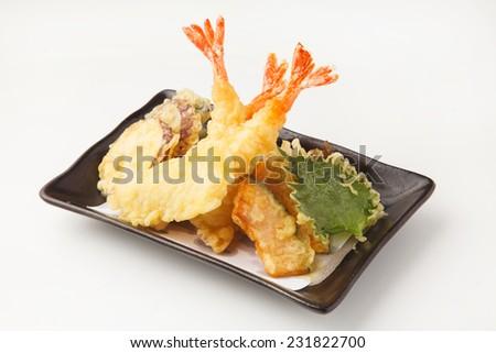 tempura - stock photo
