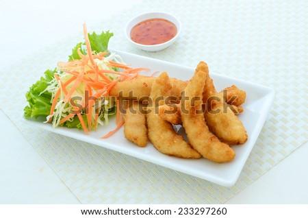 tempura Chicken 1 - stock photo