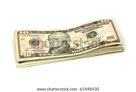 ten dollar - stock photo