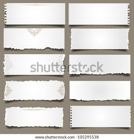 Ten notes paper.  Raster version - stock photo