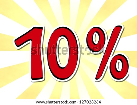 ten percent - stock photo