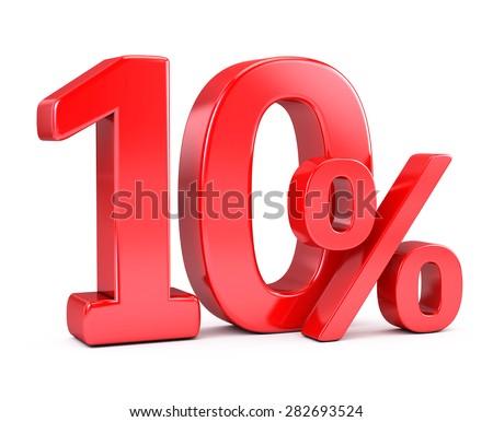 ten percent discount - stock photo