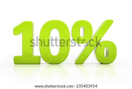 Ten percent off. Discount 10. 3D illustration - stock photo