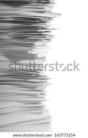 ten thousand sheets of white paper