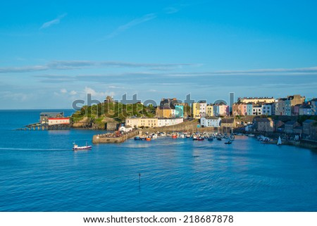 Tenby,South Wales England - stock photo