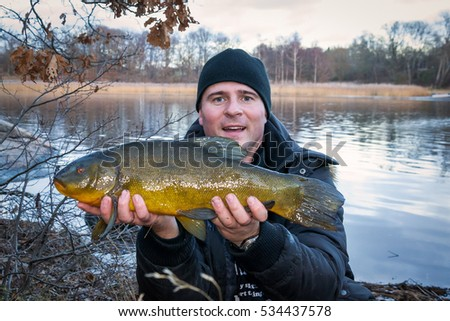 Tench fishing trophy