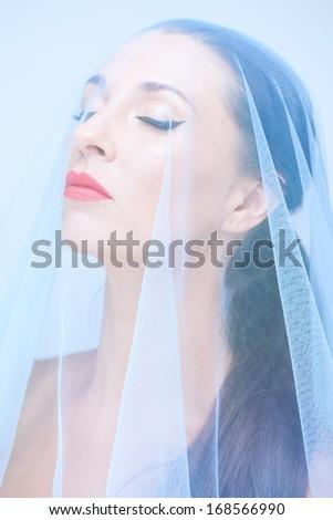 Tender bride - stock photo