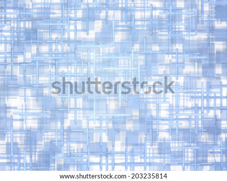 Tender turquoise grid and square shape pattern abstract background.Digitally generated image. - stock photo
