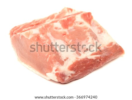 tenderloin piece of meat on a white background