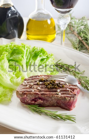 tenderloin with salad