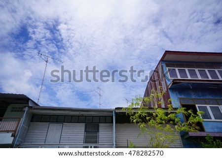 Tenement Houses in Thailand.