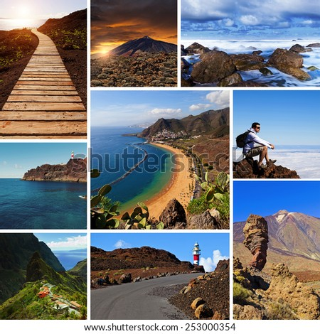 Tenerife Views Collage - stock photo