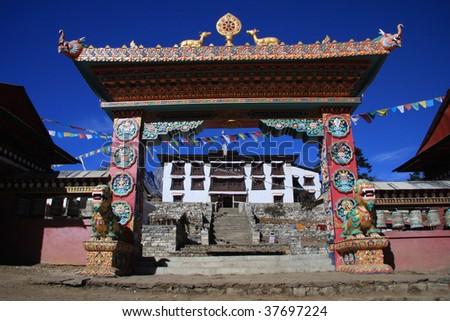 Tengboche Monastery Everest region Nepal - stock photo