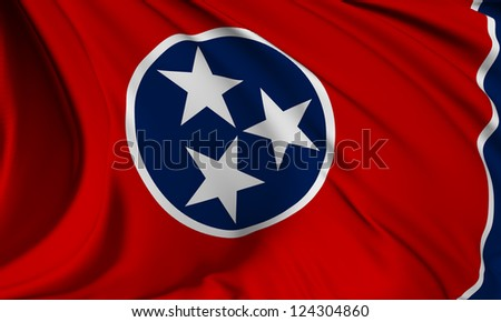 Tennessee flag - USA state flags collection no_3 - stock photo