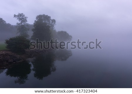 Tennessee River on Foggy Morning