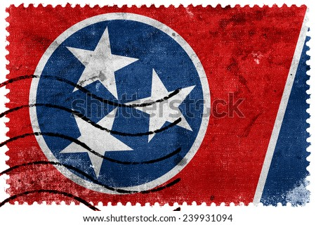 Tennessee State Flag - old postage stamp