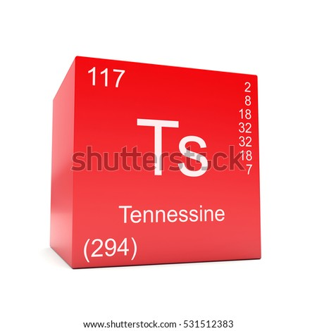 Tennessine Chemical Element Symbol Periodic Table Stock Illustration