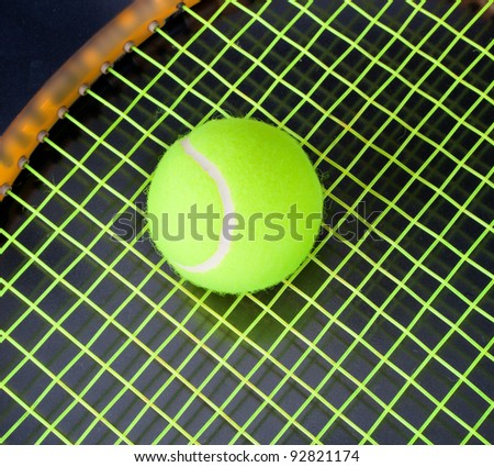 Tennis. A ball. A racket. - stock photo