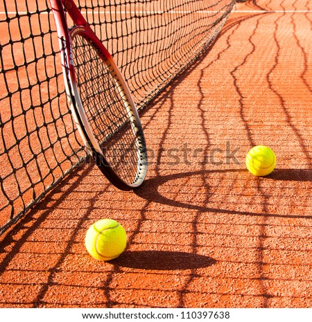 tennis abstract - stock photo