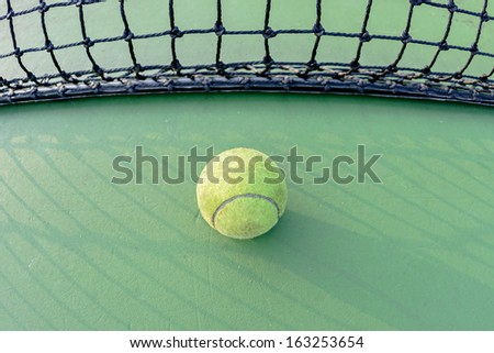 tennis and net