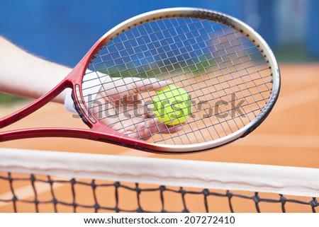 tennis background - stock photo